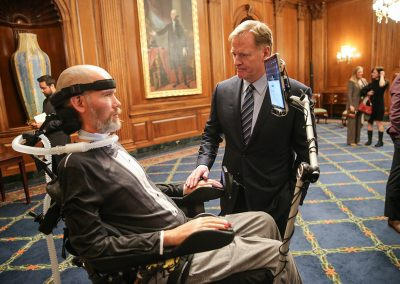 Steve Gleason and Roger Goodell
